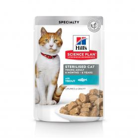 Science Plan™ Feline Sterilised Cat Young Adult с форелью 85гр